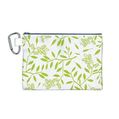 Leaves Pattern Seamless Canvas Cosmetic Bag (M)
