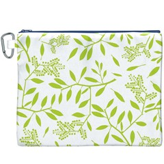 Leaves Pattern Seamless Canvas Cosmetic Bag (xxxl)