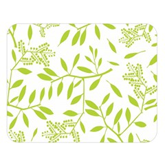 Leaves Pattern Seamless Double Sided Flano Blanket (Large)
