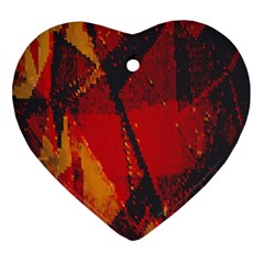 Surface Line Pattern Red Ornament (Heart)