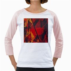 Surface Line Pattern Red Girly Raglans