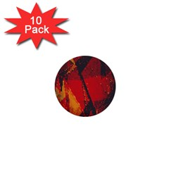 Surface Line Pattern Red 1  Mini Buttons (10 pack)