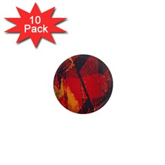 Surface Line Pattern Red 1  Mini Magnet (10 Pack)