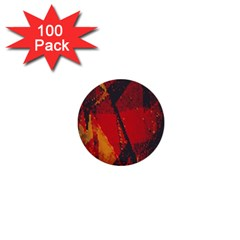 Surface Line Pattern Red 1  Mini Buttons (100 pack)