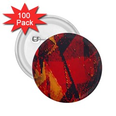 Surface Line Pattern Red 2 25  Buttons (100 Pack)