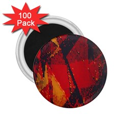 Surface Line Pattern Red 2.25  Magnets (100 pack)