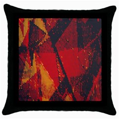 Surface Line Pattern Red Throw Pillow Case (Black)