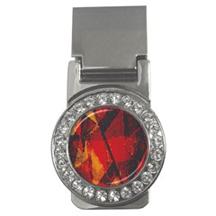 Surface Line Pattern Red Money Clips (CZ)