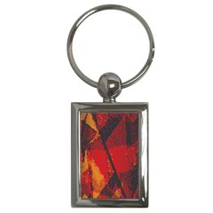 Surface Line Pattern Red Key Chains (Rectangle)