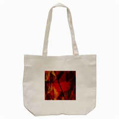 Surface Line Pattern Red Tote Bag (cream)
