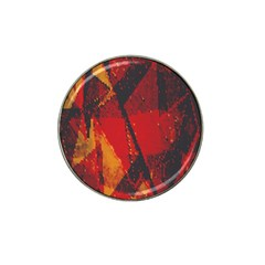 Surface Line Pattern Red Hat Clip Ball Marker (4 pack)