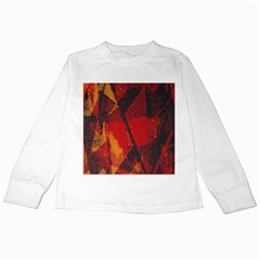 Surface Line Pattern Red Kids Long Sleeve T-Shirts
