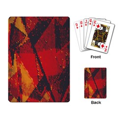 Surface Line Pattern Red Playing Card