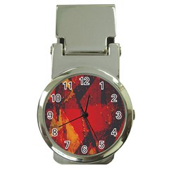 Surface Line Pattern Red Money Clip Watches