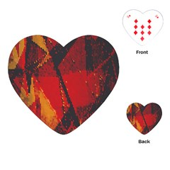Surface Line Pattern Red Playing Cards (Heart)