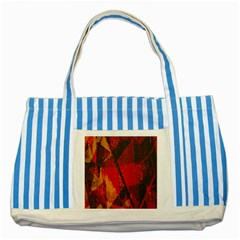 Surface Line Pattern Red Striped Blue Tote Bag