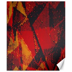 Surface Line Pattern Red Canvas 8  x 10