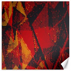 Surface Line Pattern Red Canvas 12  X 12