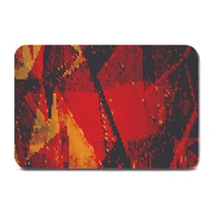 Surface Line Pattern Red Plate Mats