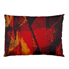 Surface Line Pattern Red Pillow Case