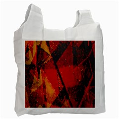 Surface Line Pattern Red Recycle Bag (One Side)