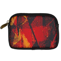 Surface Line Pattern Red Digital Camera Cases