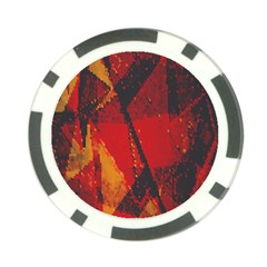 Surface Line Pattern Red Poker Chip Card Guard (10 Pack)