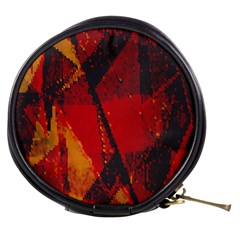 Surface Line Pattern Red Mini Makeup Bags
