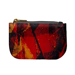 Surface Line Pattern Red Mini Coin Purses
