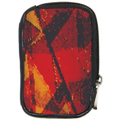 Surface Line Pattern Red Compact Camera Cases