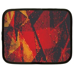 Surface Line Pattern Red Netbook Case (XL)
