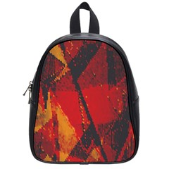 Surface Line Pattern Red School Bags (small)