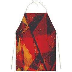 Surface Line Pattern Red Full Print Aprons
