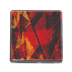 Surface Line Pattern Red Memory Card Reader (Square)