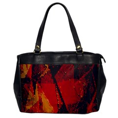 Surface Line Pattern Red Office Handbags
