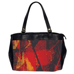 Surface Line Pattern Red Office Handbags (2 Sides)