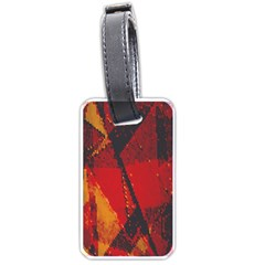 Surface Line Pattern Red Luggage Tags (two Sides)