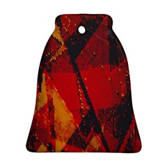 Surface Line Pattern Red Bell Ornament (Two Sides)