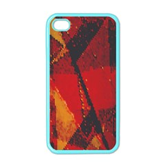 Surface Line Pattern Red Apple iPhone 4 Case (Color)