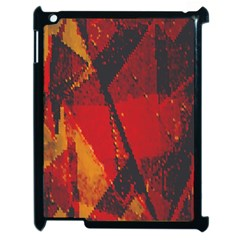 Surface Line Pattern Red Apple iPad 2 Case (Black)