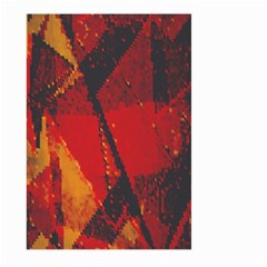 Surface Line Pattern Red Large Garden Flag (Two Sides)
