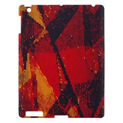 Surface Line Pattern Red Apple iPad 3/4 Hardshell Case