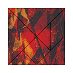 Surface Line Pattern Red Acrylic Tangram Puzzle (6  x 6 )