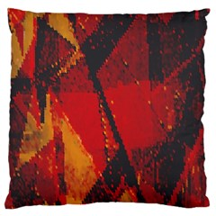 Surface Line Pattern Red Large Cushion Case (Two Sides)