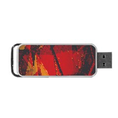 Surface Line Pattern Red Portable USB Flash (One Side)