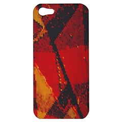 Surface Line Pattern Red Apple iPhone 5 Hardshell Case