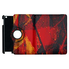 Surface Line Pattern Red Apple Ipad 2 Flip 360 Case