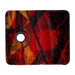 Surface Line Pattern Red Galaxy S3 (Flip/Folio)