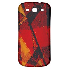 Surface Line Pattern Red Samsung Galaxy S3 S III Classic Hardshell Back Case
