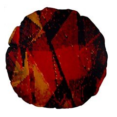 Surface Line Pattern Red Large 18  Premium Round Cushions